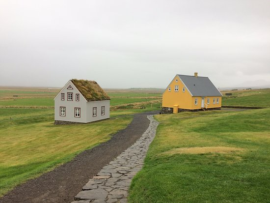 Varmahlid, Iceland: Museum and Askaffi buildings