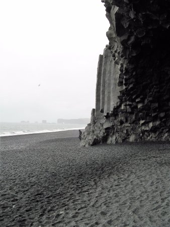 Black Sand Beach: Sea, sand, stone and sky - textures and light to the West