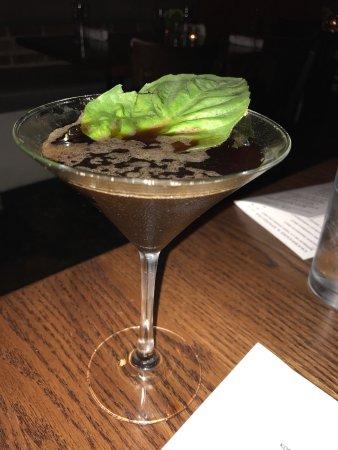 Covington, LA: Blackberry Basil martini