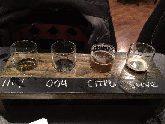 Quakertown, PA: Beer Flight - Hey, 004, Citra, Steve!