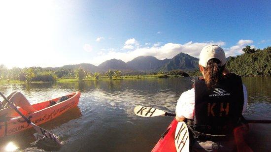 Kayaking on the Hanalei River