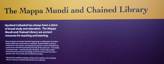 Hereford, UK: Mappa Mundi and Chained Library Exhibitions