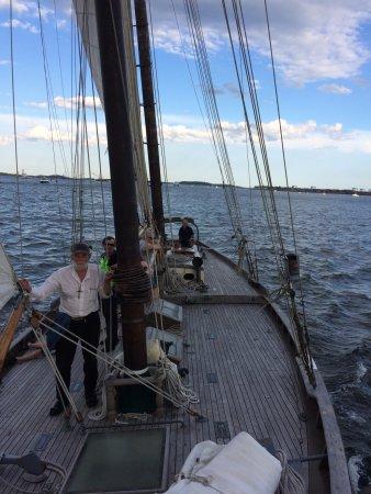 Chatham, MA: My father goes for a sail at Sail Boston!