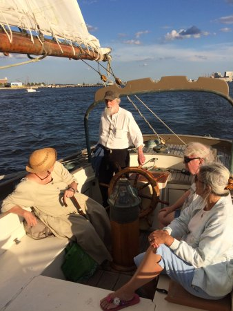 Chatham, MA: Father at the helm!