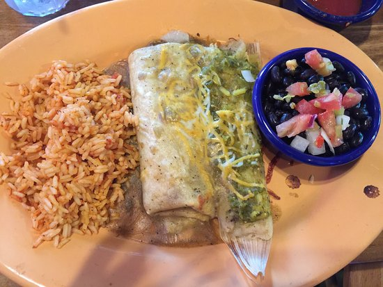 Fort Smith, AR: You pick two! Tamale and burrito option shown here. Plus two sides. Great guacamole appetizer to