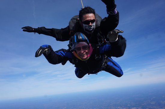 Triangle Skydiving Center: My husband free falling at 120 MPH!