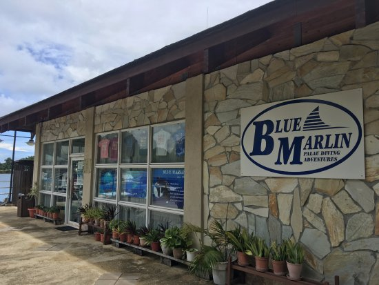 Koror, Palaos: パラオロイヤルリゾート内にたたずむショップ