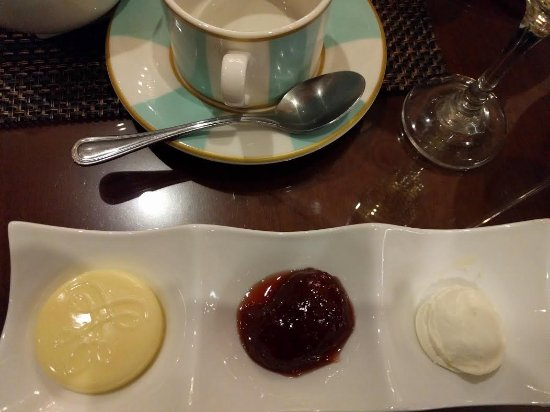 Oakbrook Terrace, IL: Butter, Preserves and Clotted Cream Served with High Tea