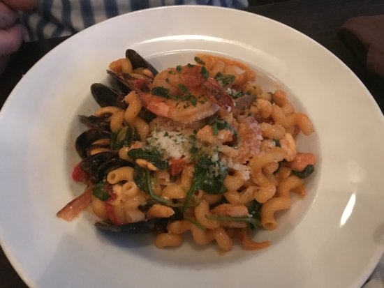 Seafood pasta offering,Avenue Bistro 2064 Comox Ave, Comox, British Columbia