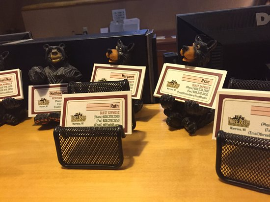Little bear business card holders, Three Bears Resort change location 701 Yogi Cir, Warrens, WI