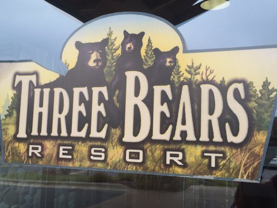 Three bears signs, Three Bears Resort change location 701 Yogi Cir, Warrens, WI