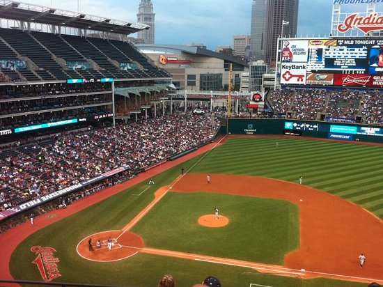 Progressive Field: Shot from the first base side.