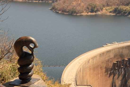 Lake Kariba, Zimbabwe: The RiverGod Nyanja Nyami and the wall.