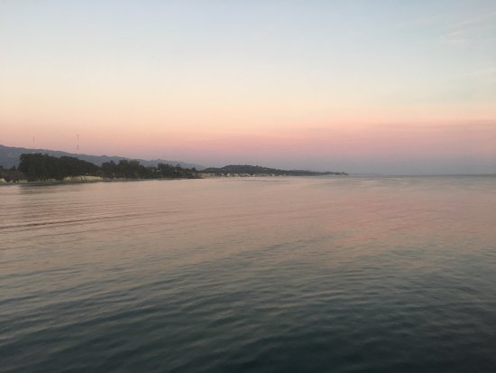 Goleta Beach Park is one of the best places to take in a sunset, the piers a quarter mile long,