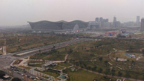 InterContinental Century City Hotel Chengdu : Uitzicht vanaf de 30e verdieping op Global Center Mall