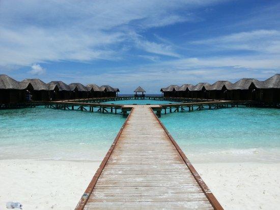 Fihalhohi Island Resort : Der Weg zu den Wasserbungalows
