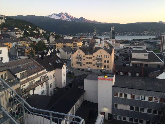 Narvik, Norge: Panorama dall'ultimo piano