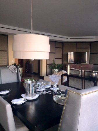 InterContinental Boston: Ambassador Suite Living Quarters including Dining Area