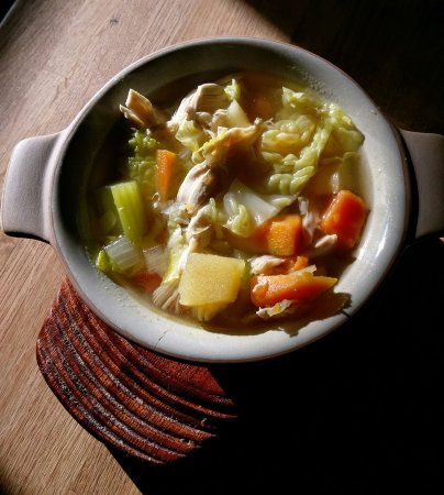 Tavistock, UK: Clear chicken and veg - One of our slimming world soups!