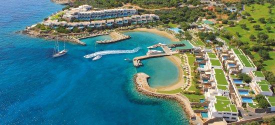 Aerial picture of elounda peninsula ALL SUITE HOTEL and the Elounda Peninsula Diamond Residences