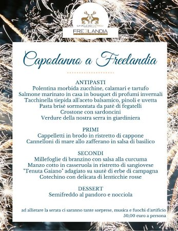 Montescudo, Italy: CAPODANNO A FREELANDIA!!! WHAT A WONDERFUL NIGHT!!!