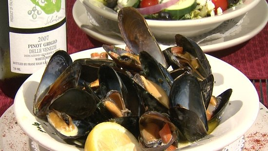 Southwest Harbor, ME: Best mussel on the island!  Harvested from Blue hill bay!