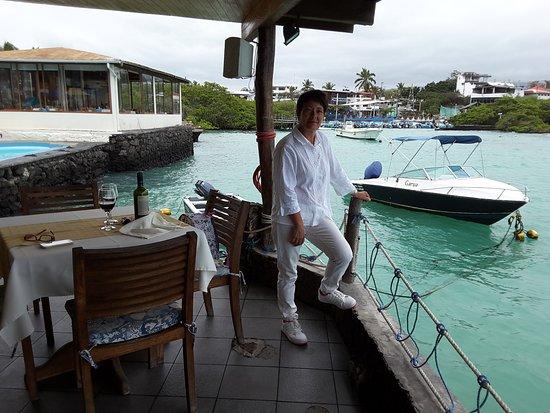 Hotel Solymar: Terrasse du restaurant