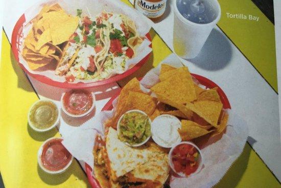 Tortilla Bay Southwest Grille: Mahi Mahi Grilled Taco's and Barbacoa Quesadilla