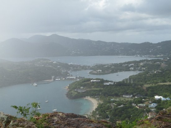 English Harbour, Antigua: It rained!
