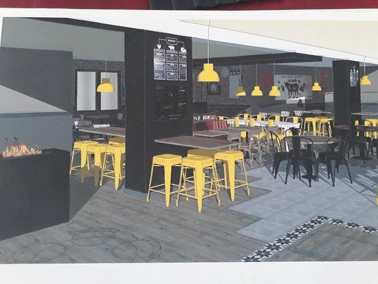 Echirolles, ฝรั่งเศส: salle principale du restaurant