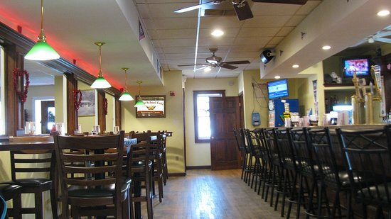 Pembroke, MA: Your choice of bar seating, high tops or tables.
