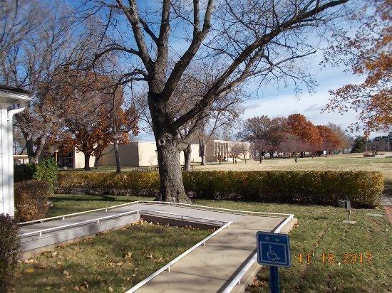 Abilene, KS: Museum in background
