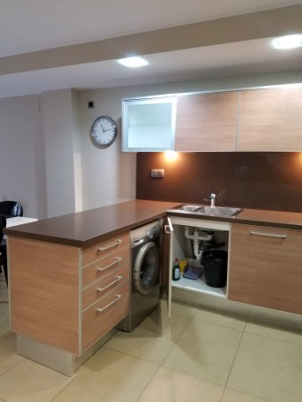 Up Suites Bcn: Apt 1 - Kitchen (washing machine and dishwasher) - ground level