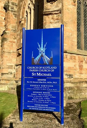 Linlithgow, UK: The Church Sign