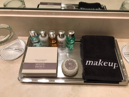 The Capital Hotel: Thoughtful toiletries