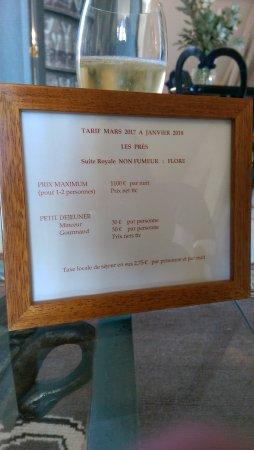 Les Pres d'Eugenie: champagne et .....