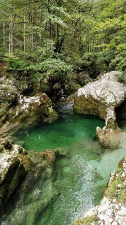 Srednja vas v Bohinju, Slovenien: Mostnica Gorge