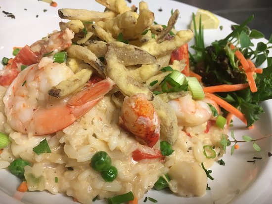 Middleboro, MA: Seafood Risotto w/ Lobster, Shrimp & Bay Scallops