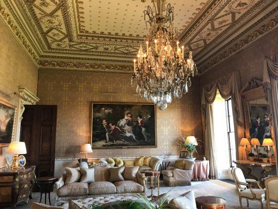 "Ballyfin Demesne: The ""Gold Room"", ready for your tea."