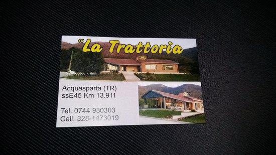 Acquasparta, Italien: Biglietto da visita