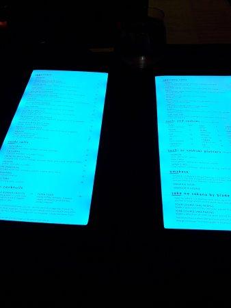 Fontainebleau Miami Beach : menu retroilluminato ristorante sushi