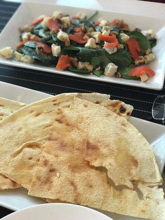 North Miami, FL: Pane carasau and insalata Como (salad)