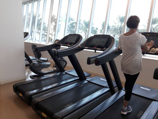Fontainebleau Miami Beach : tapis roulant in palestra