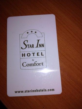 Star Inn Hotel Salzburg Zentrum, by Comfort: Zimmerkarte