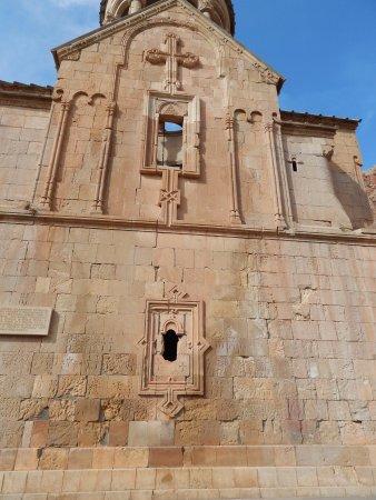 Khor Virap : cruz tallada en piedra