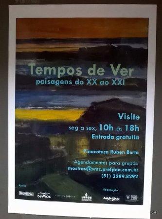 Pinacoteca Ruben Berta: cartaz de exposição