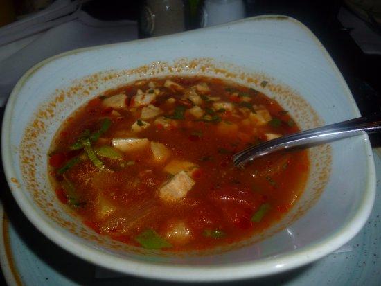 Sabrosa sopa caribeña