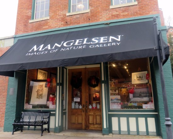 Galena, IL: front of and entrance to Mangelsen - Images of Nature Gallery