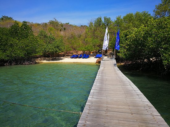 West Bali National Park, Indonesia: Private beach and jetty