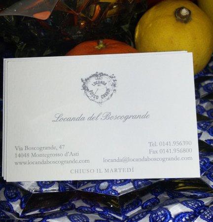 Montegrosso d'Asti, Italien: bigliettino da visita